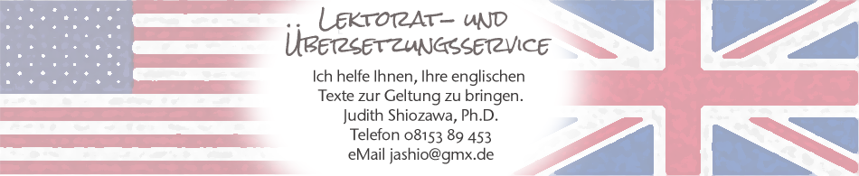 Lektoriat-  und Übersetzungsservice Judith Shiozawa, Ph.D.